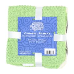 Campbell Ramsay Cotton Washcloth 6Pk Green
