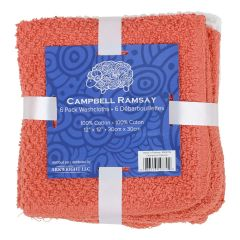 Campbell Ramsay Cotton Washcloth 6Pk Red