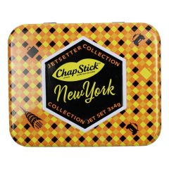 Chapstick Jetsetters Collection New York 3Pc Tin