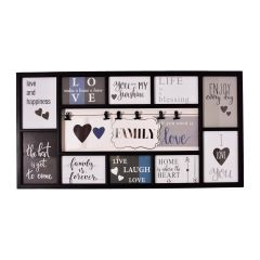 Bella Villa 10 Opening Collage Frame with Clips