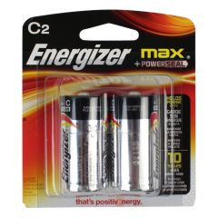 Energizer Max + Power Seal Batteries C2 2Pk