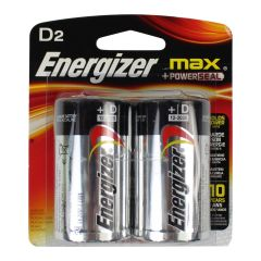 Energizer Max + Power Seal Batteries D2 2Pk