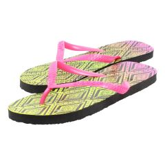 Chatties Tribal Flip Flops Yellow
