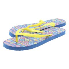 Chatties Tribal Flip Flops Blue
