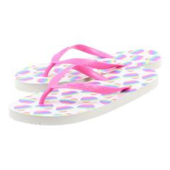 Chatties Hearts Design Flip Flops Pink