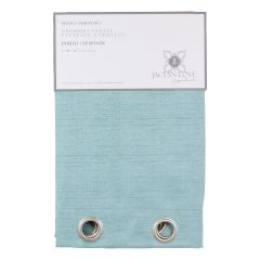 Jaclyn Love Signature Faux Silk Grommet Curtains - Seafoam