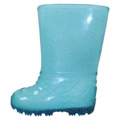 Girls Sparkly Rubber Boot Blue