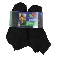 Fruit of the Loom Sport Ankle Socks 6Pk Size 4-10