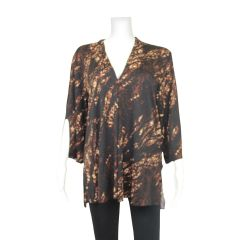 Clientele Tunic Top Brown
