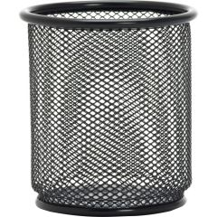 Lorell Wire Mesh Pencil Cup Holder Black