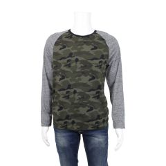 The Raglan Ringer Crew Men's Long Sleeve Camouflage Medium