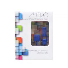 Move Charge And Sync Cable Micro & Mini USB Connector 70cm Blue