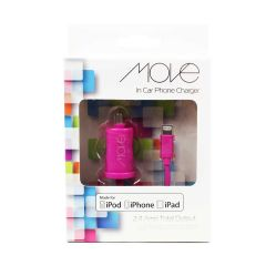 Move In Car Phone Charger Pink