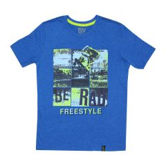 Navy Crew Skate Be Rad T Shirt