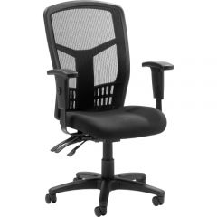 Lorell Executive High Back Mesh Fabric Chair Grey And Black