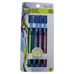 Onyx + Green Fine Highlighters Assorted 4Pk