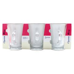 Opera Glass Mug 3 Piece Set