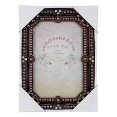 Parisian Home Jewel Collection Brass Photo Frame 4 x 6 Inch
