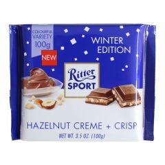 Ritter Sport Hazelnut Creme + Crisp Winter Edition 3.5oz (100g)