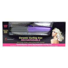 Roman Beauty Rechargeable Ceramic Travel Curling Iron
