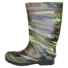 Boys Camo Rubber Boots