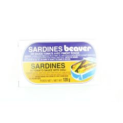 Beaver Sardines in Tomato Sauce and Chili 120g
