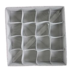 Sock Organizer 16 Slot Grey Collapsible