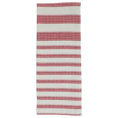 Linencorp Canada Waffle Tea Towel Red Stripe