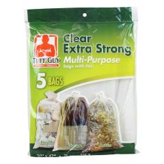 Tuff Guy Extra Strong Clear Plastic Bags 30 inches X 47 inches 5 Pack