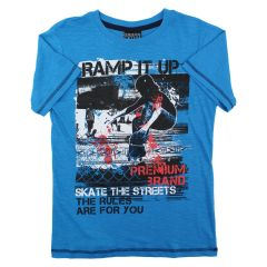 Urban Vintage Printed T Shirt Blue