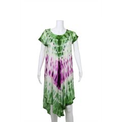 Beach by Exist Umbrella Dress Purple and Green