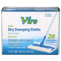 Viro Dry Sweeping Cloths 20 Pack