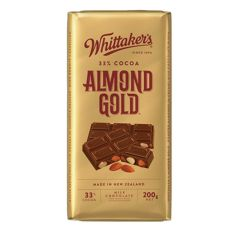 Whittakers Milk Almond Gold Chocolate 200g