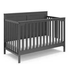 Storkcraft Alpine 4 In 1 Convertible Crib Gray