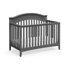 Storkcraft Valley 4 In 1 Convertible Crib Gray