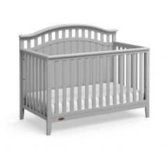 Graco Harper 4 In 1 Convertible Crib Pebble Gray