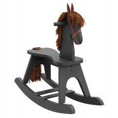 Storkcraft Wooden Rocking Horse Gray