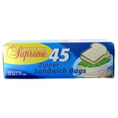 Sandwich Bags Zipper Top 45's