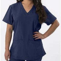 Green Town 4 Flex Collection Scrub Top Navy