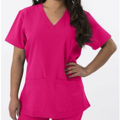 Green Town 4 Flex Collection Scrub Top Raspberry