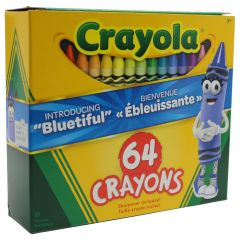 Crayola Crayons With Sharpener 64 Pk