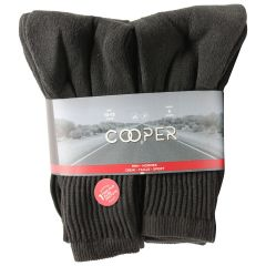Cooper Mens 6+1 Sport Socks Black 10-13