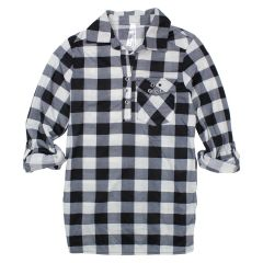 2 Dye 4 Long Sleeve Plaid Shirt Size 7-14