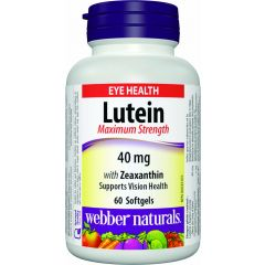 Webber Naturals Lutein Maximum Strength 40 mg - Eye Health