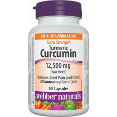 Webber Naturals Extra Strength Turmeric Curcumin 12,500 mg - Anti Inflamation