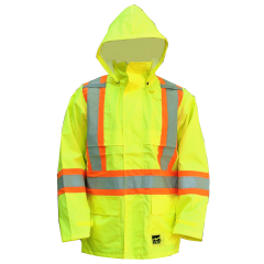 Open Road Hooded Rain Jacket Yellow Medium
