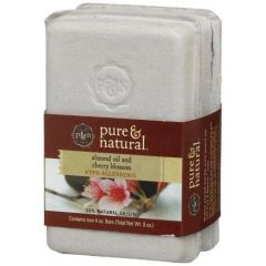Pure & Natural Almond Oil and Cherry Blossom Bar Soap 2 Pack