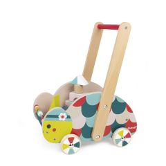 Janod Baby Forest Turtle Trolley