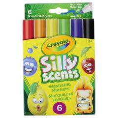 Crayola Silly Scent Chisel Tip Marker 6 Pack