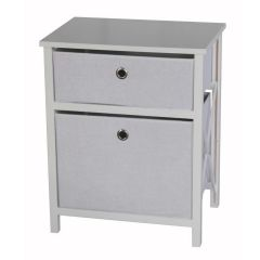 Casa Décor 2 Drawer Storage Cabinet White